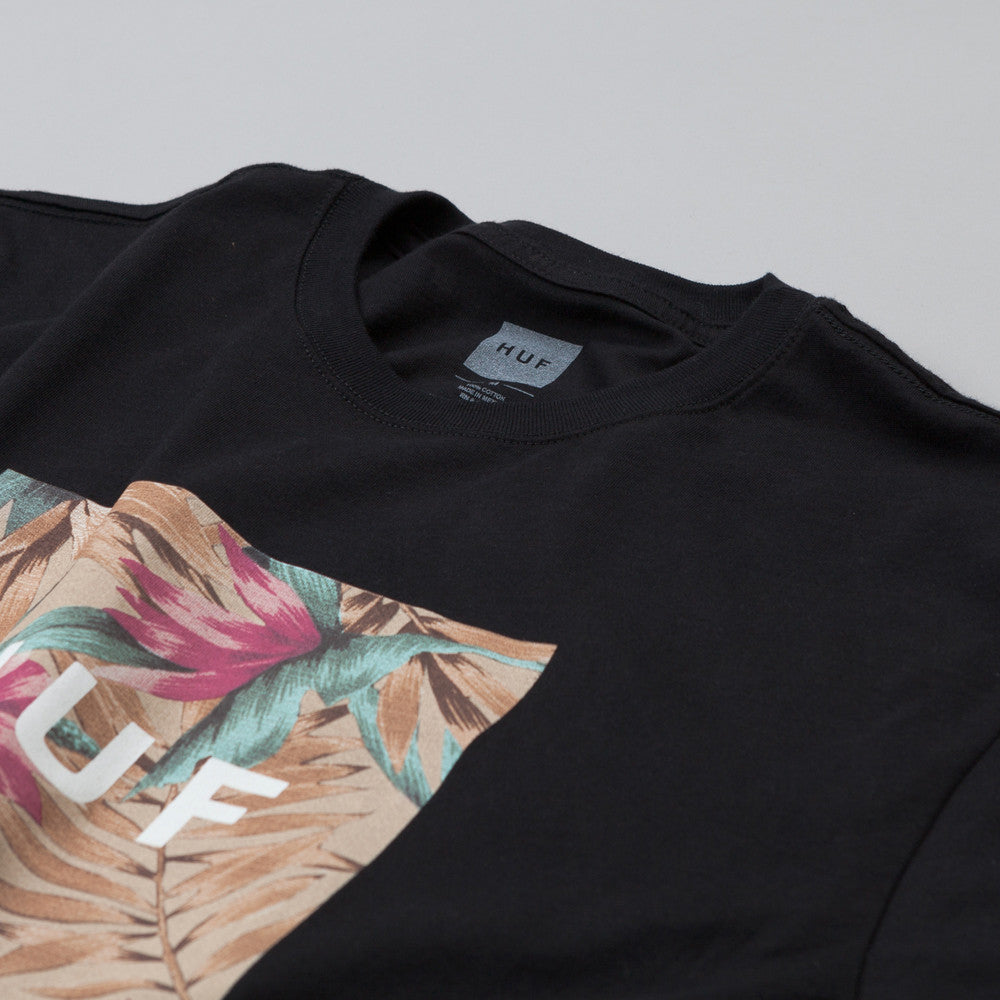 HUF Box Logo Fill Waikiki T Shirt Black