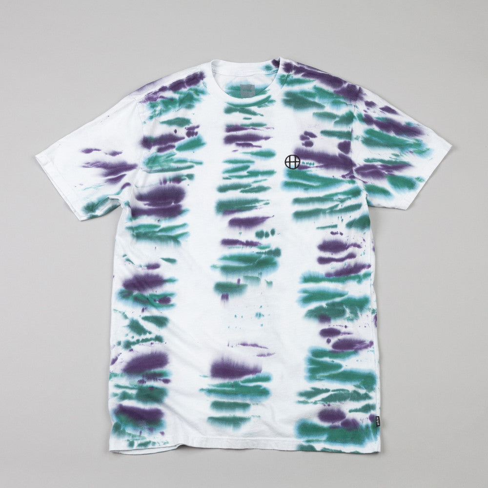 HUF Circle H Bar Wash T Shirt White