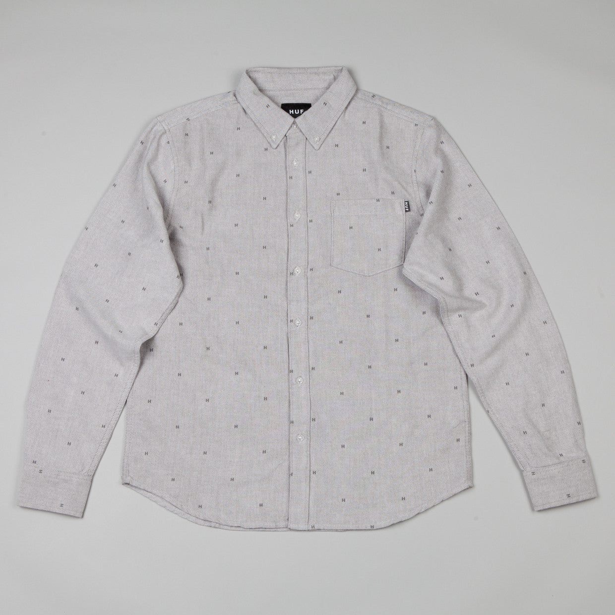 HUF Crested Oxford Shirt Grey