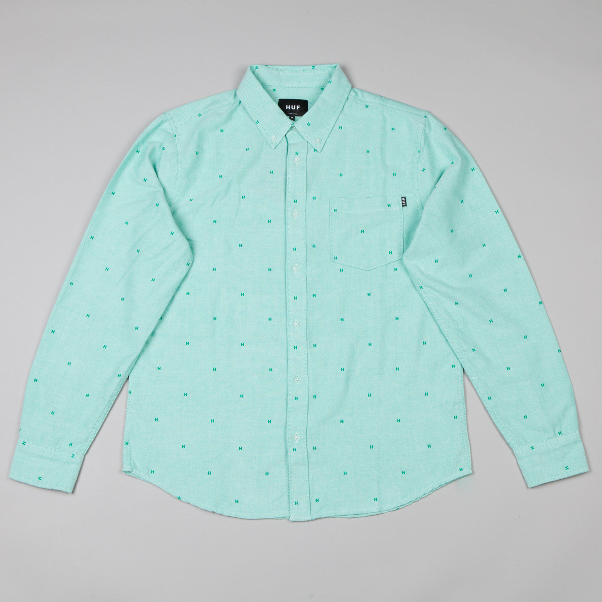 HUF Crested Oxford Shirt Mint