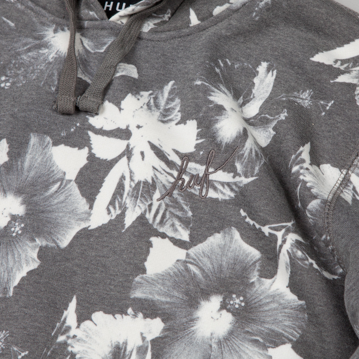 HUF Floral Hooded Sweatshirt black