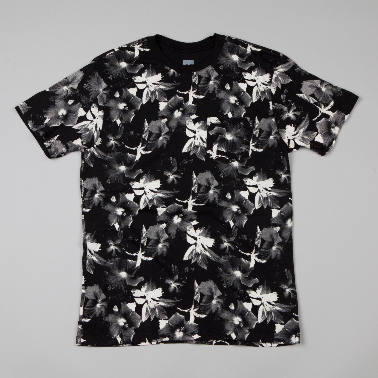 HUF Floral Pocket T-shirt Black / White