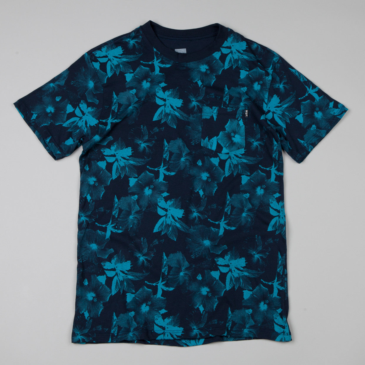 HUF Floral Pocket T-shirt Navy / Jade