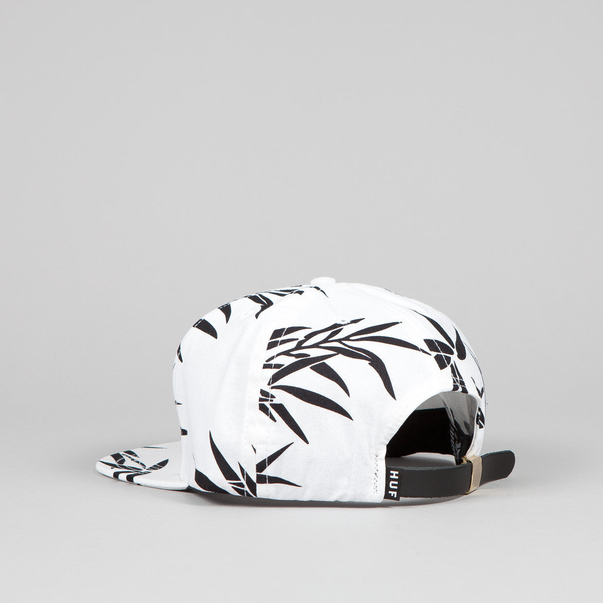 HUF Hammered Metal H Bamboo Snapback White