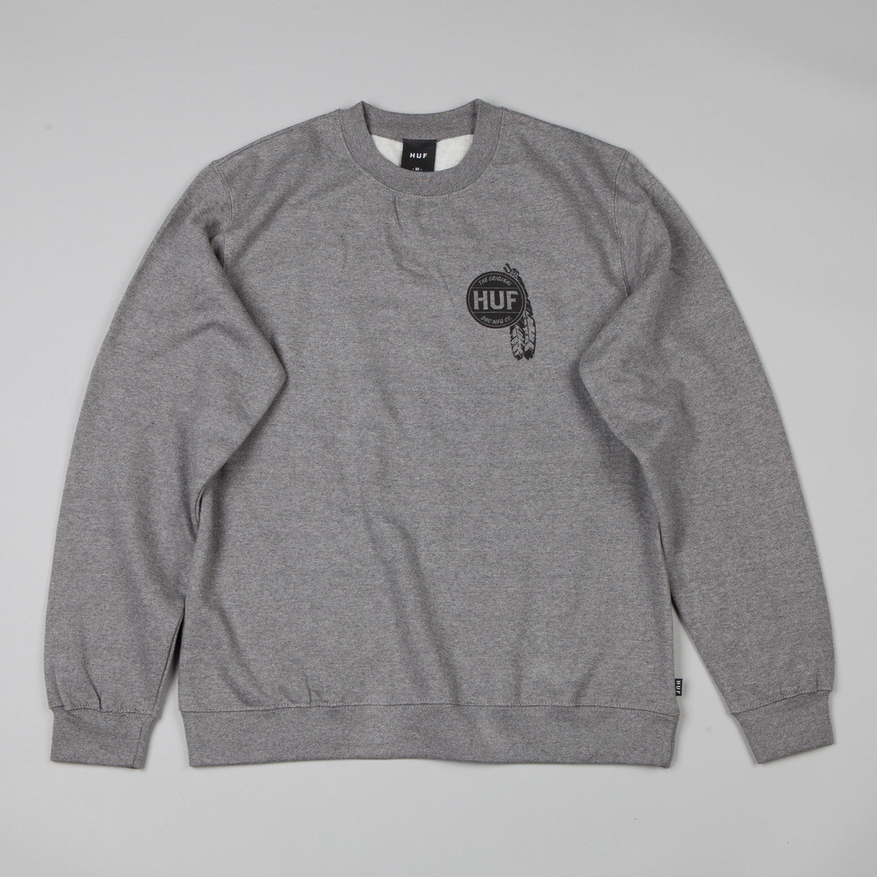 HUF Native Crew Neck Sweatshirt Grey Heather