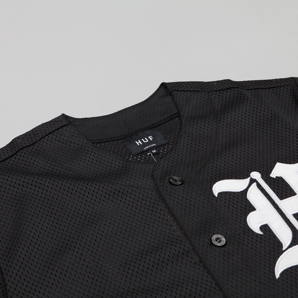 HUF Old English Baseball Jersey Black