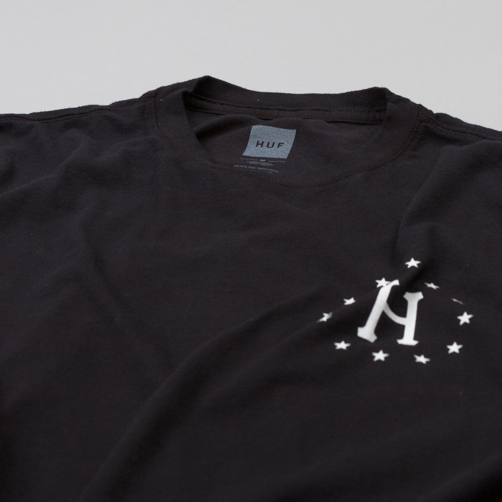 HUF 12 Galaxy Sleeve Wash T Shirt Black / Grey