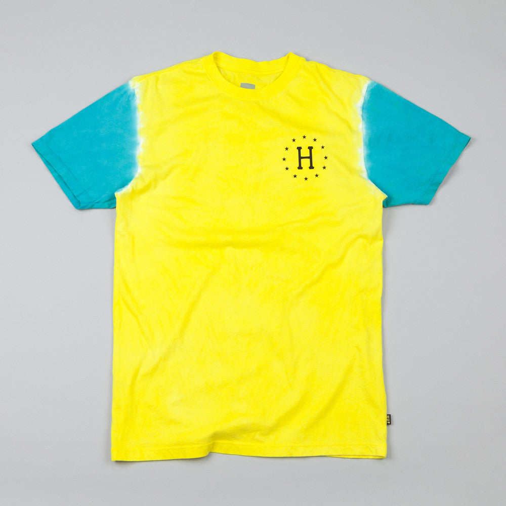 HUF 12 Galaxy Sleeve Wash T Shirt Khaki / Jade