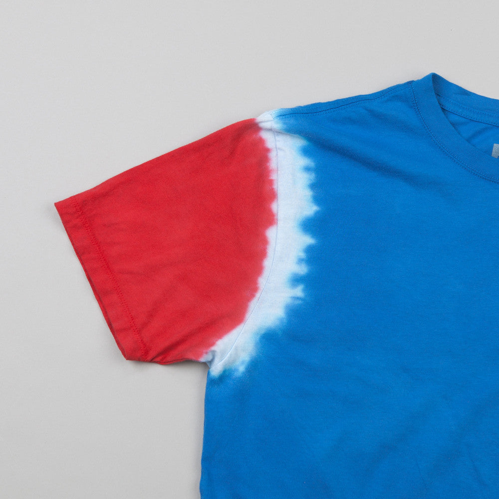 HUF 12 Galaxy Sleeve Wash T Shirt Royal / Red