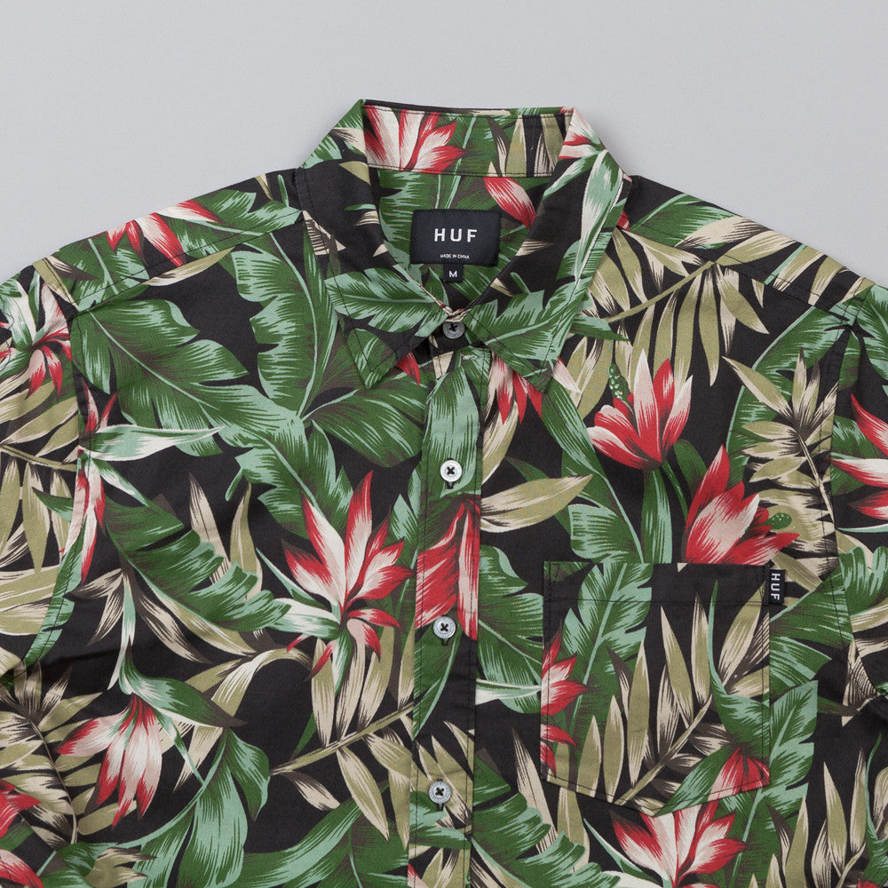 HUF Waikiki Short Sleeve Woven Shirt Black