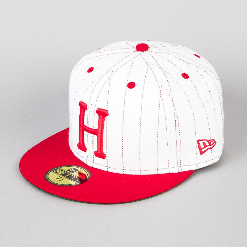 HUF Pin Stripe New Era Cap White / Red