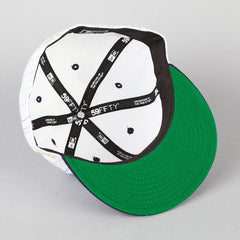 HUF Pin Stripe New Era Cap White / Navy