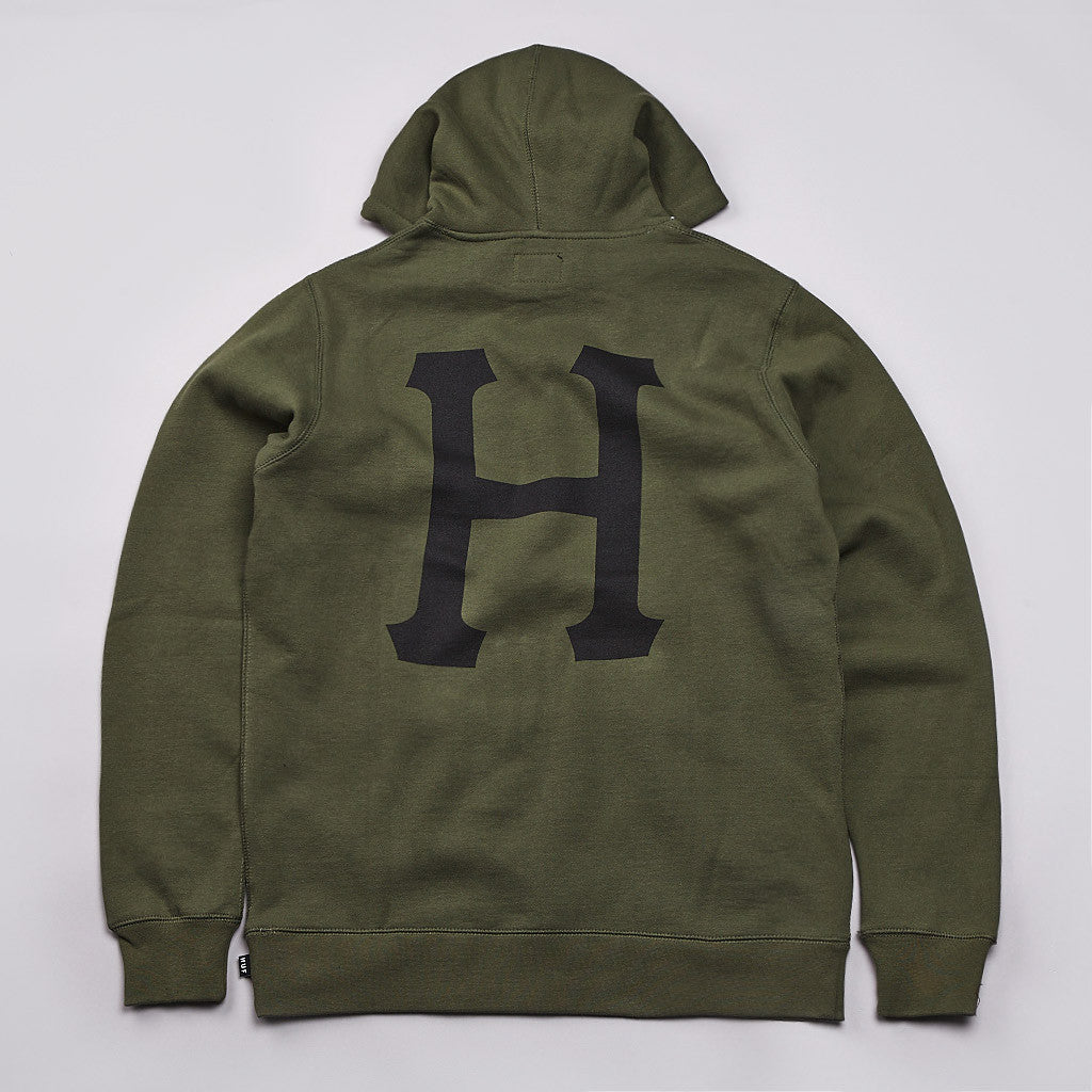 HUF Galaxy Classic H Hooded Sweatshirt Army Heather