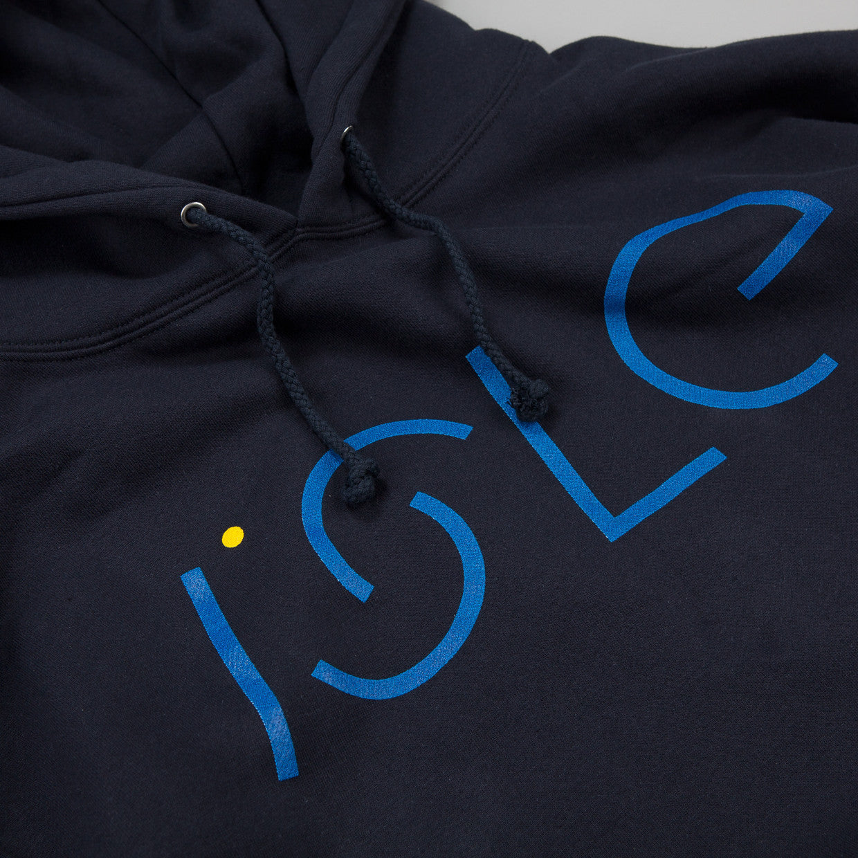 Isle logo Hooded Sweatshirt Navy