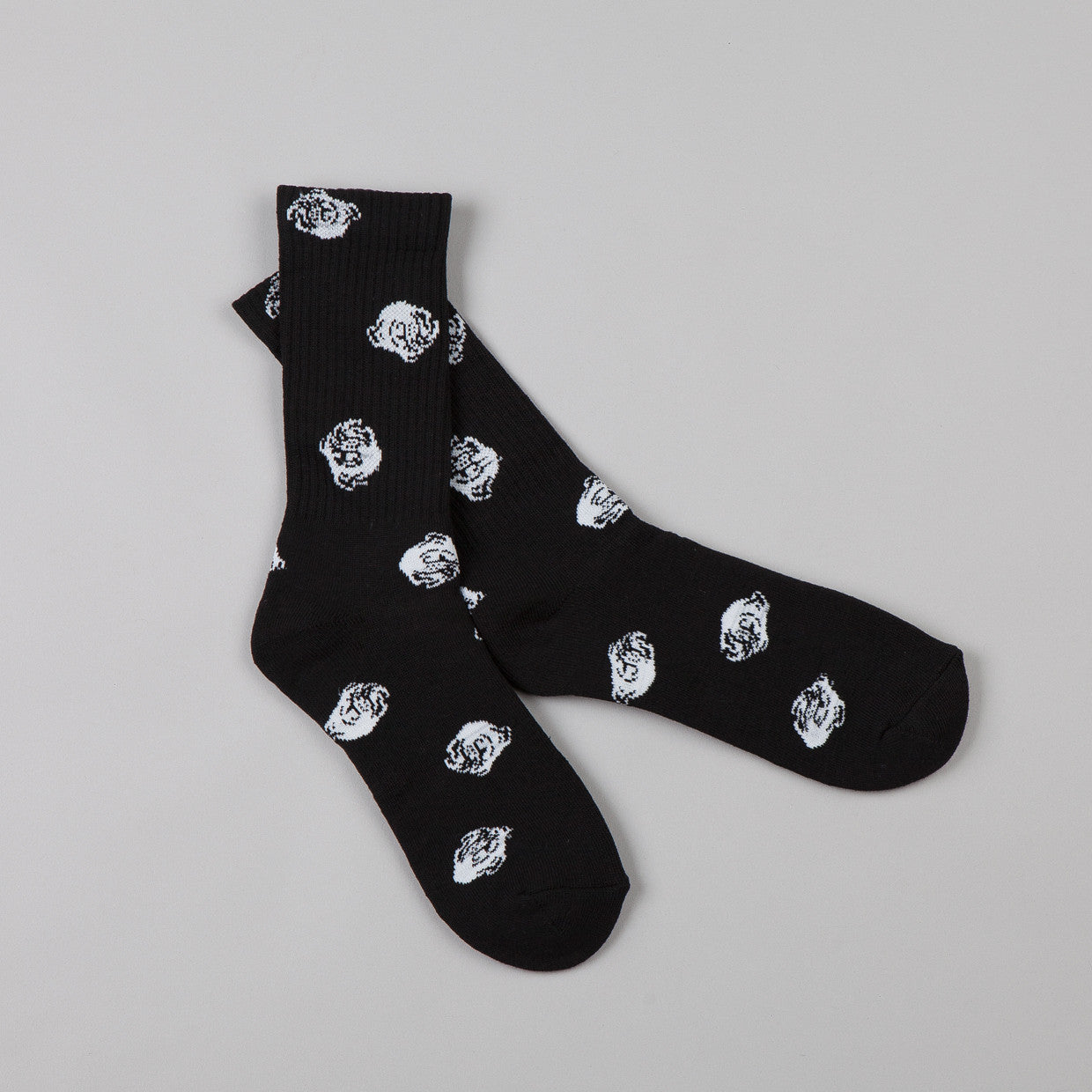 Indcsn Allover Bulldog Socks Black