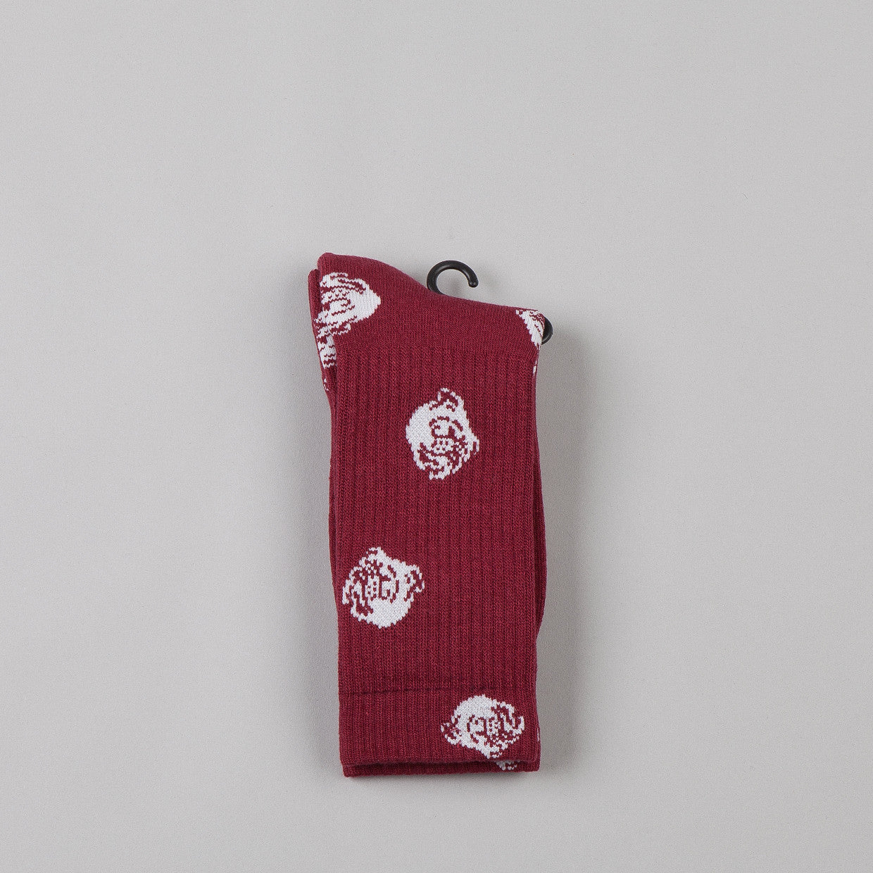 Indcsn Allover Bulldog Socks Maroon
