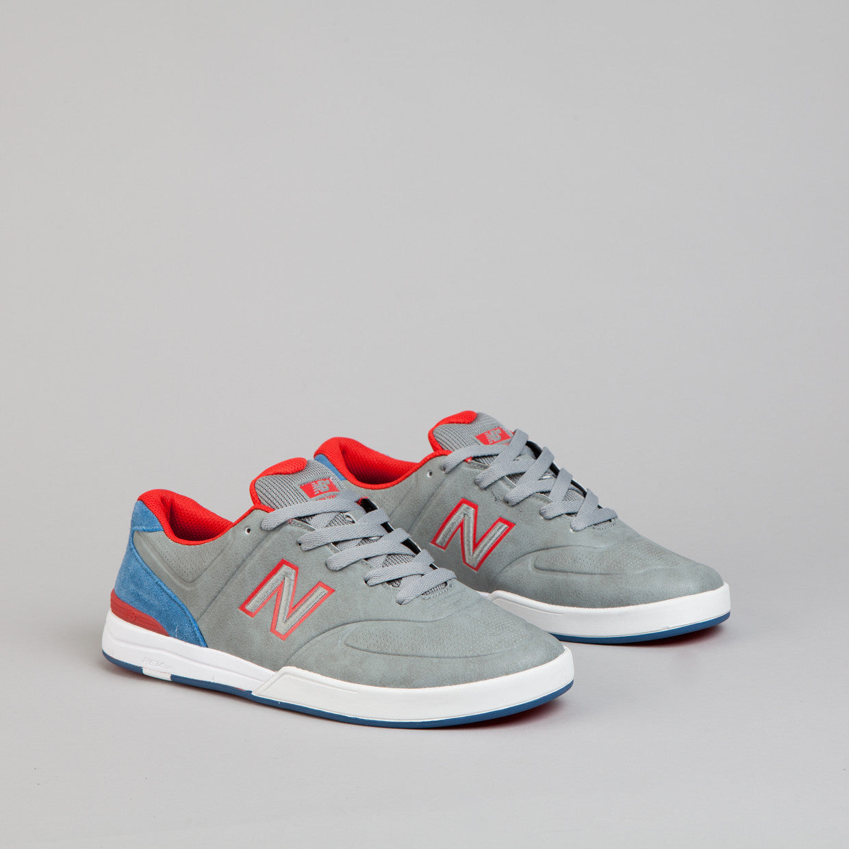 New Balance Numeric Logan 637 Shoes -  Medium Grey / Federal Blue