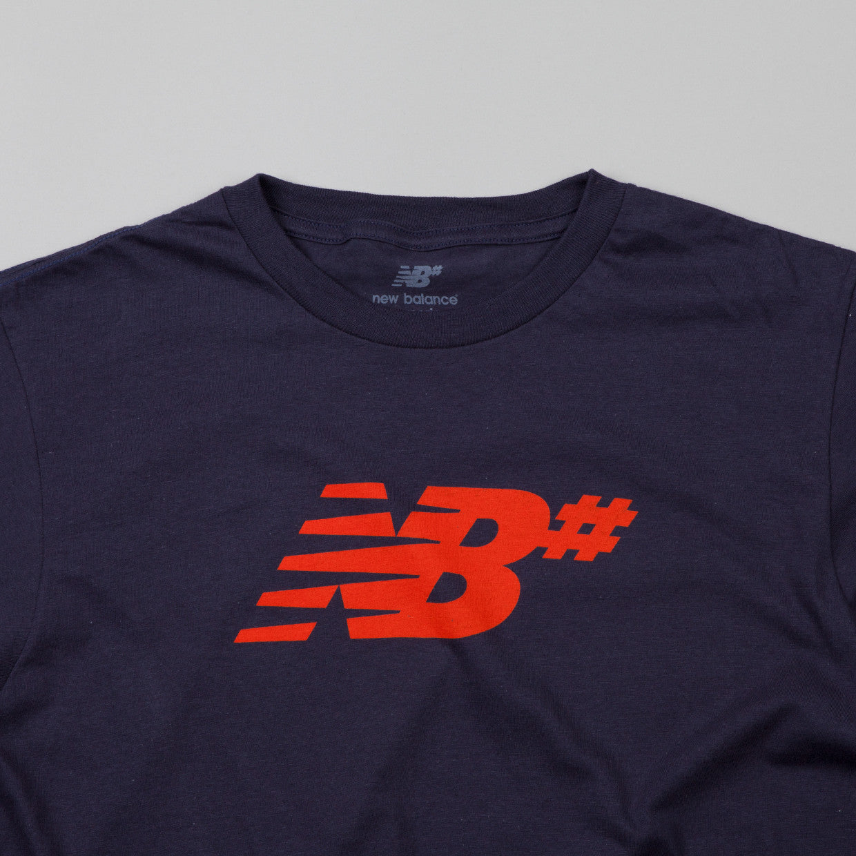 New Balance Numeric Icon T Shirt Indigo Blue / Burnt Orange