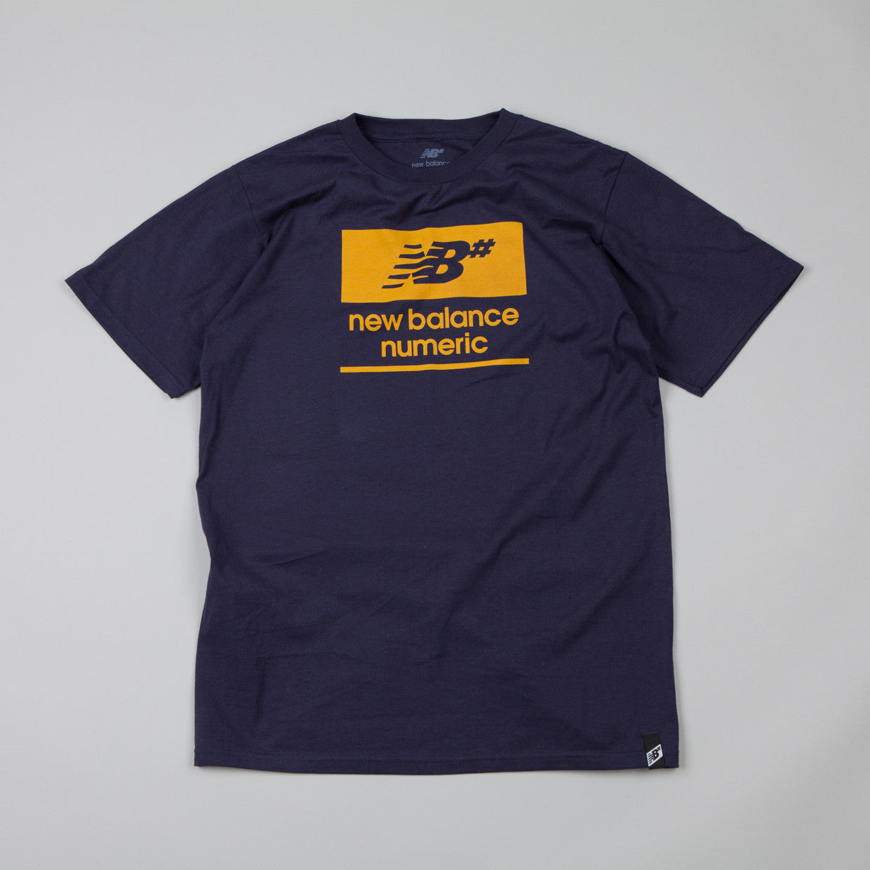 New Balance Numeric Label T Shirt Estate Blue / Gold Yellow