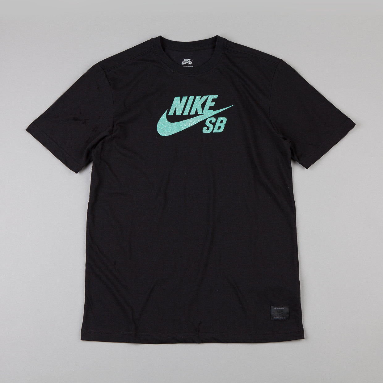 Nike Sb Dri-fit Icon Speckle T-shirt Black / Crystal Mint