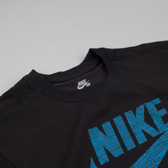 Nike Sb Dri-fit Icon Woodgrain T-shirt Black / Space Blue