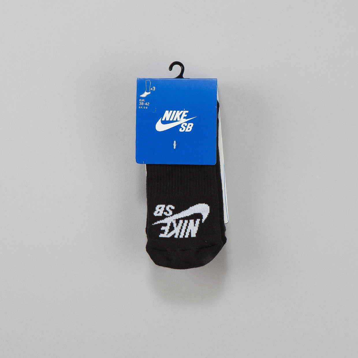 Nike SB Elite Skate 3-pack Crew Socks Low-Cut Black / White