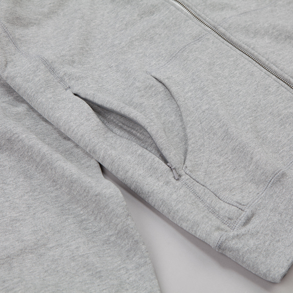 Nike SB Northrup Icon Zipped Hooded Sweatshirt Dark Grey Heather