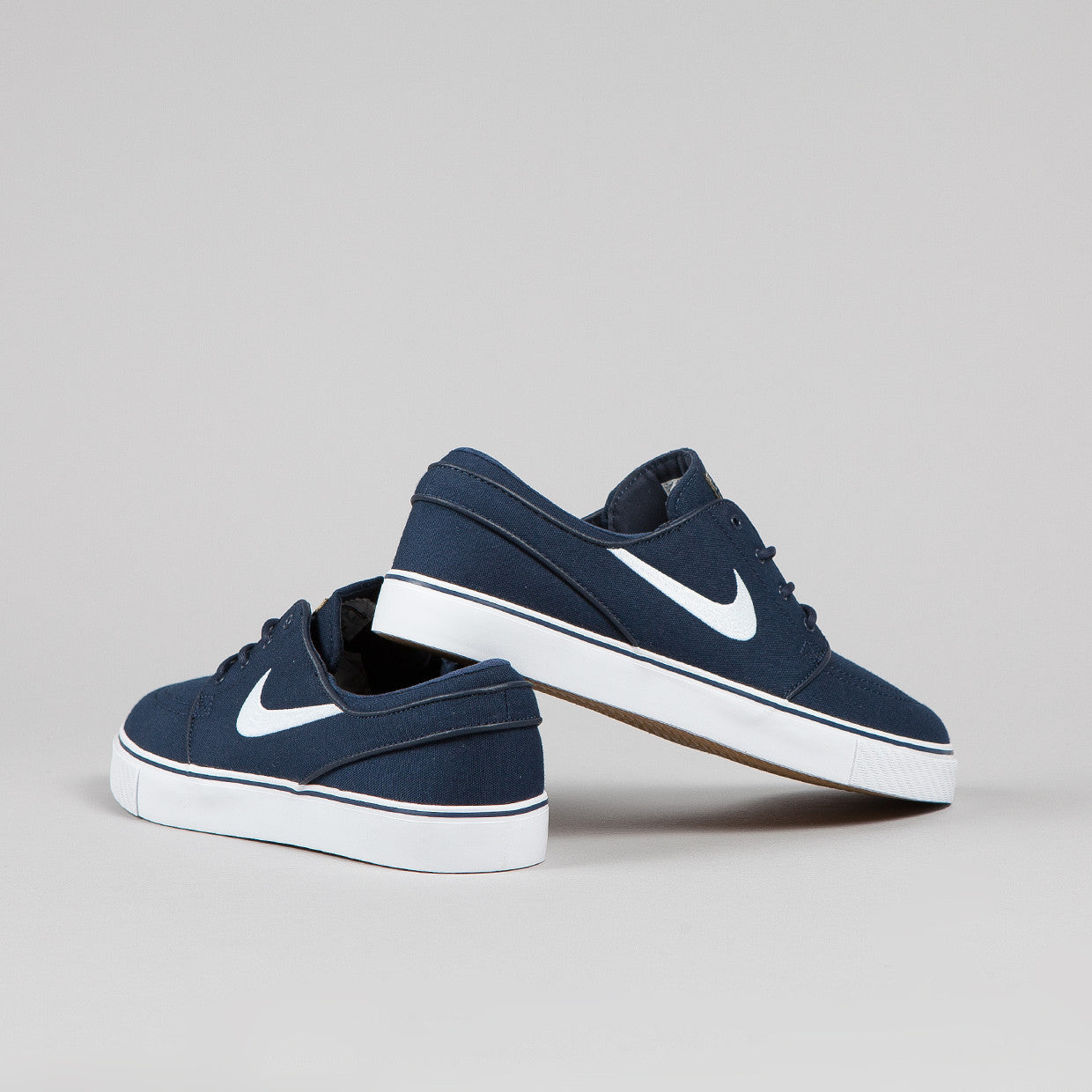Nike SB Stefan Janoski CNVS Obsidian / White - Gum light Brown - Metallic