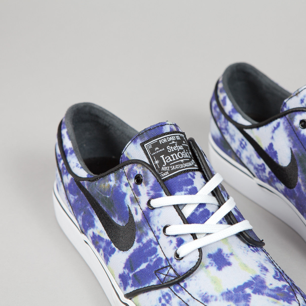 Nike SB Stefan Janoski PR QS White / Black - Deep Royal Blue (Tie Dye)