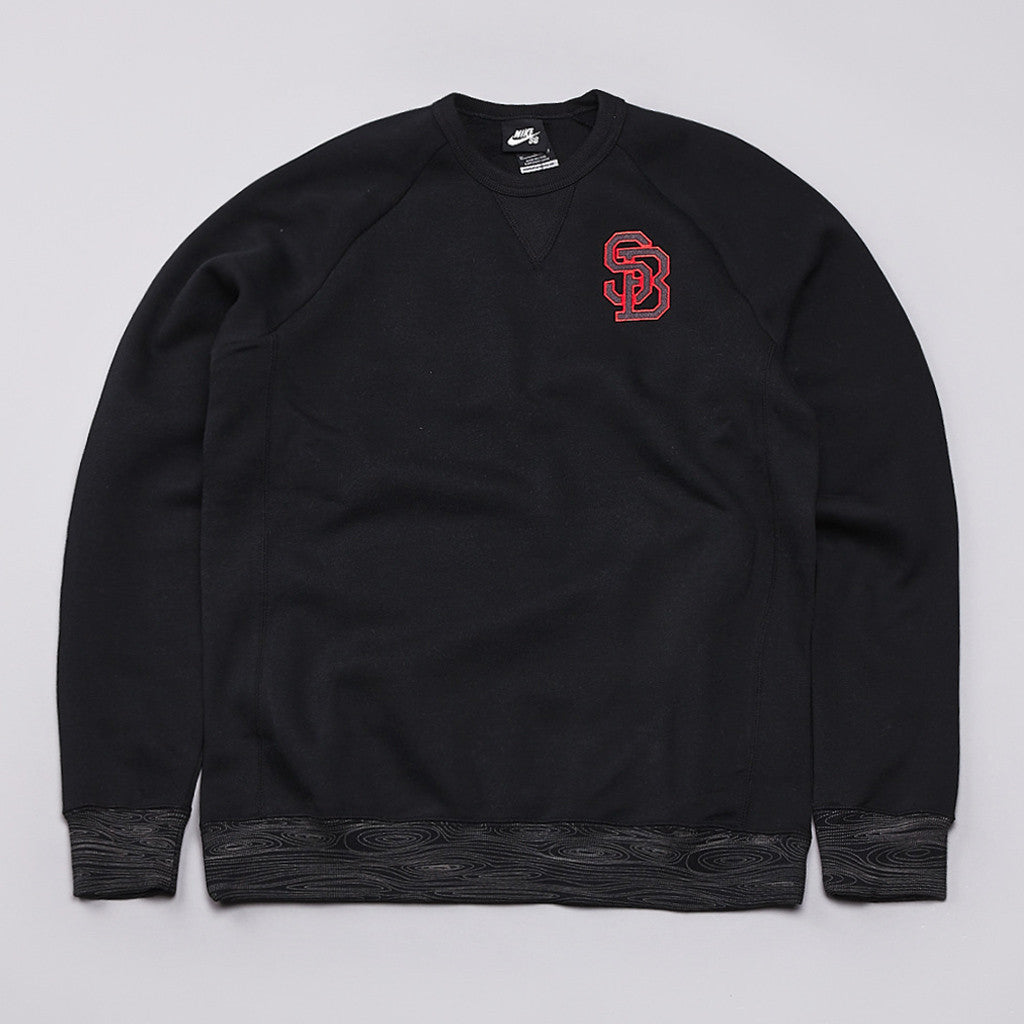Nike SB  Woodgrain Crew Neck Sweatshirt Black / Dark Base Grey