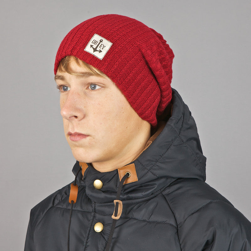 Obey Rig Beanie Red