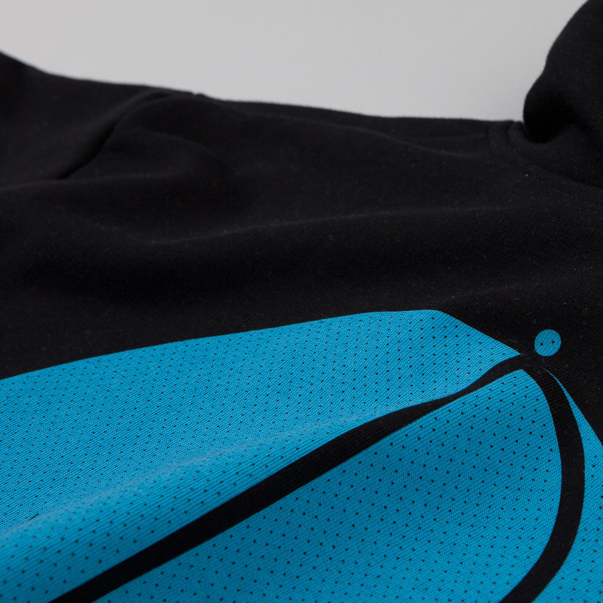 Polar Fill Logo Mesh Hooded Sweatshirt Black