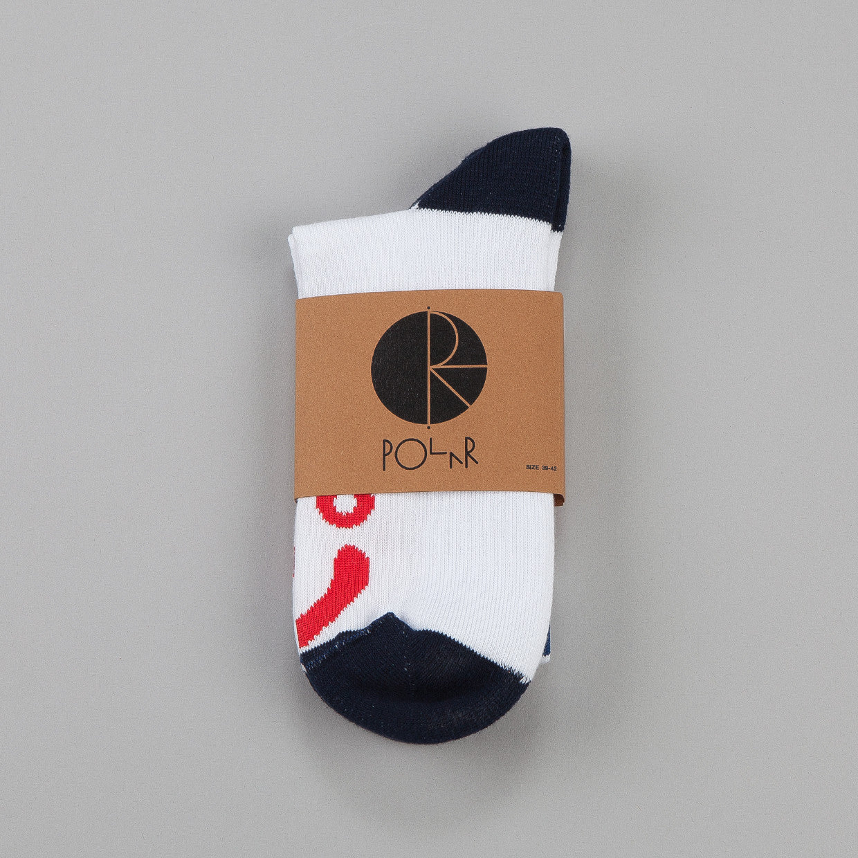 Polar Happy Sad Socks Blocks White / Navy / Red