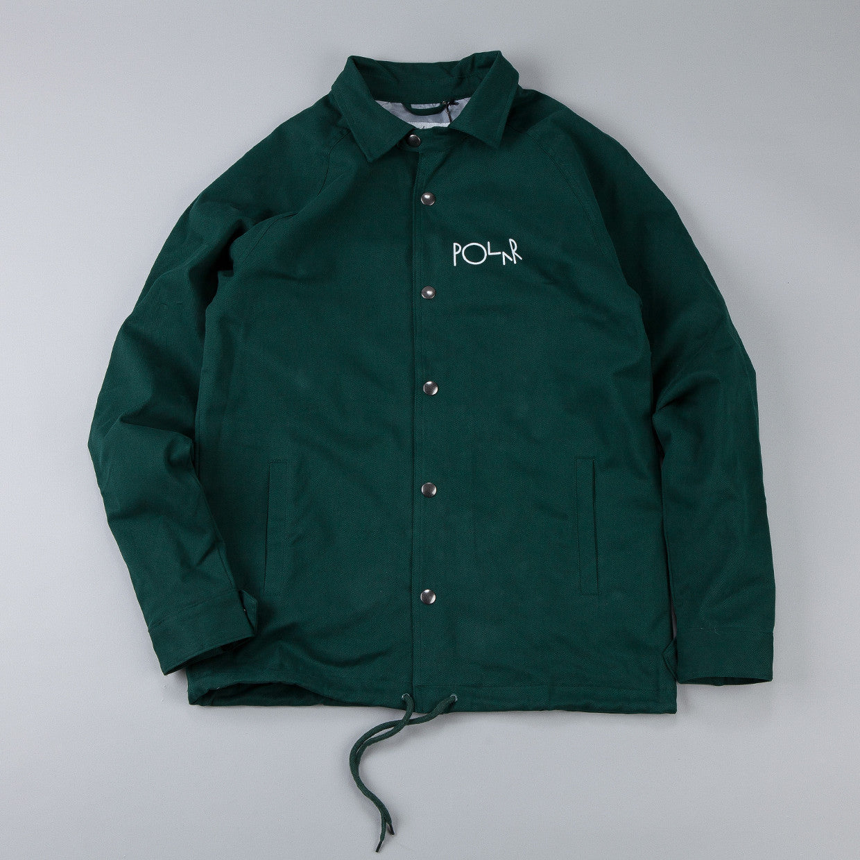 Polar Stroke Logo Coach Jacket Green