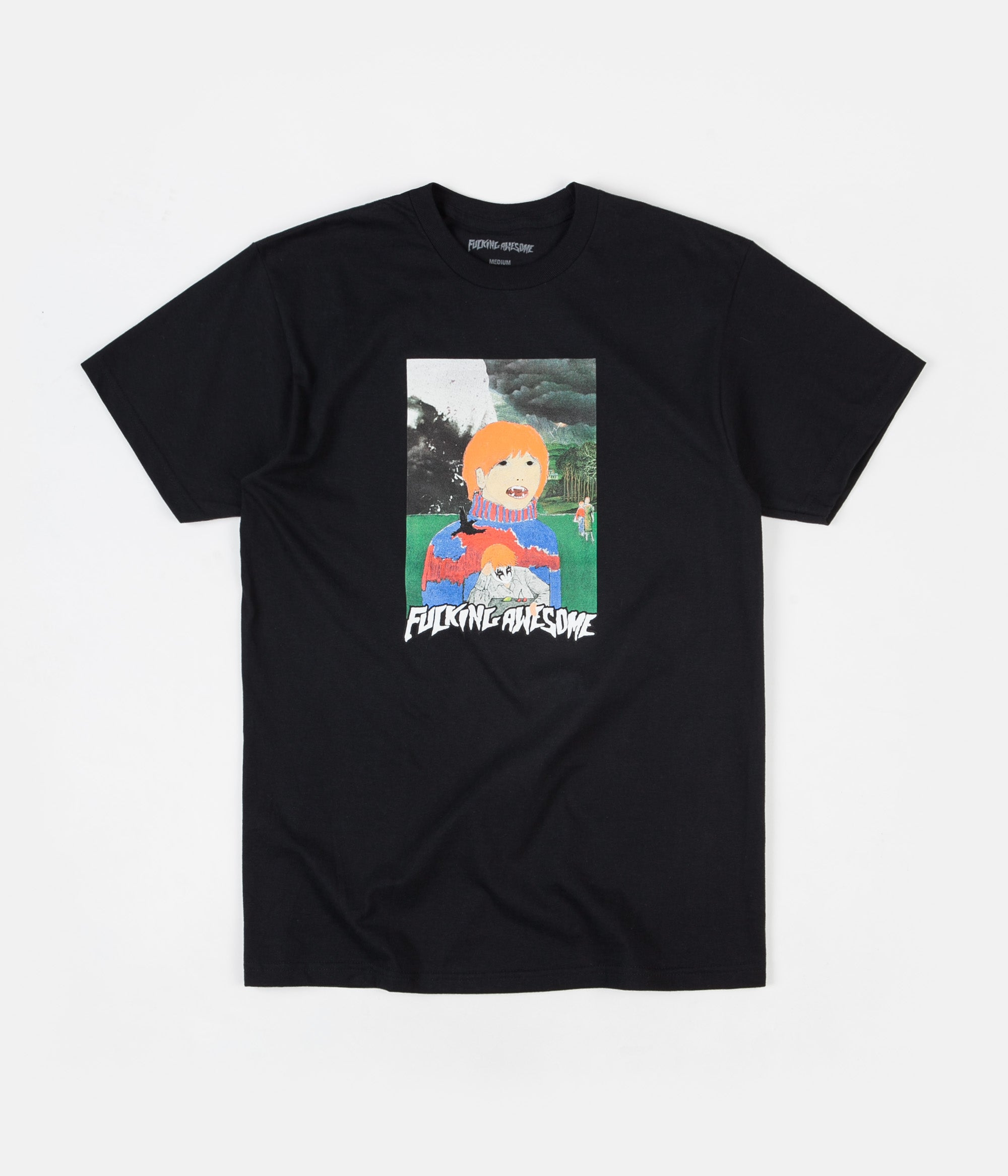 Fucking Awesome Painted Aidan T-Shirt - Black