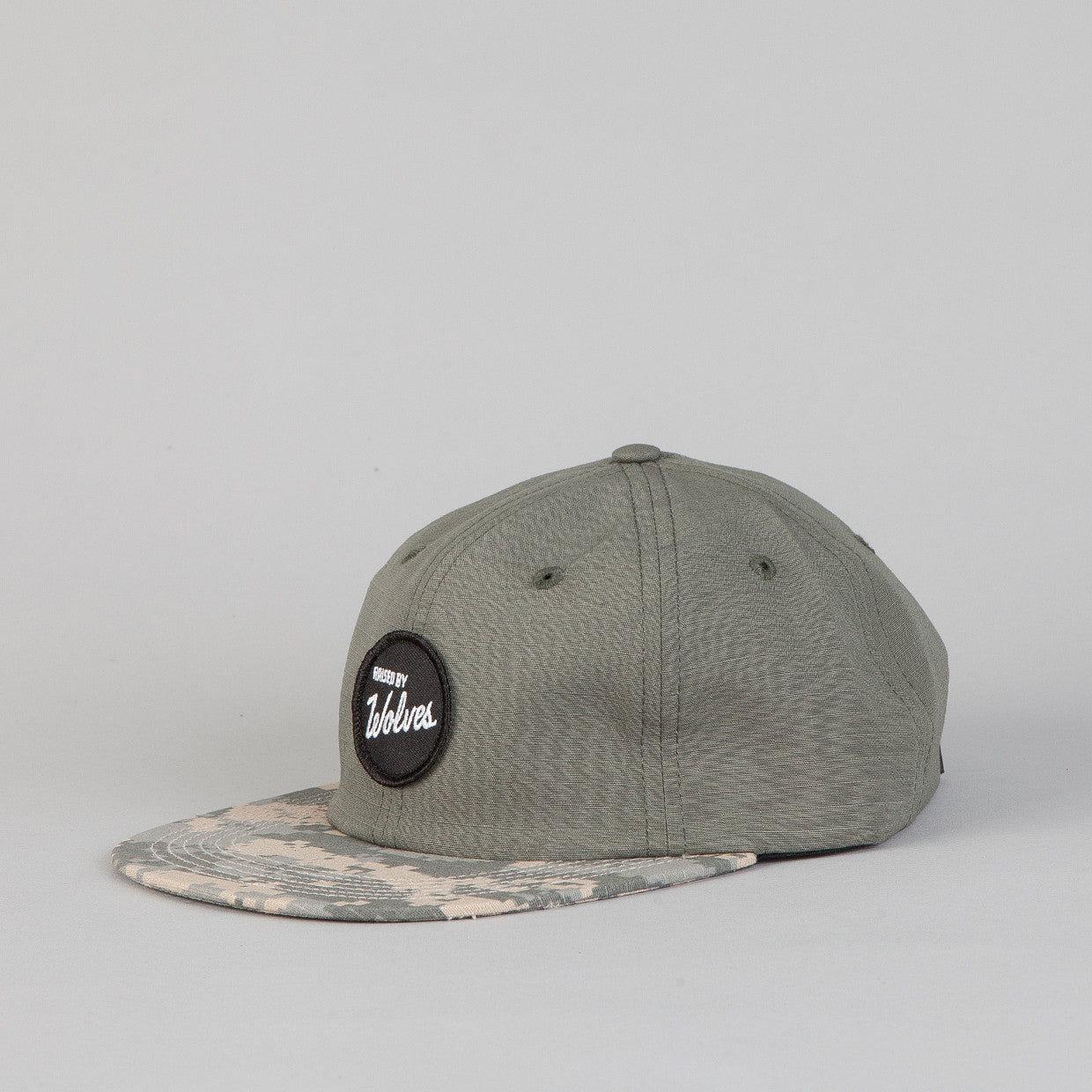 Raised By Wolves Varsity Circle Polo Cap Acu/Foliage Green