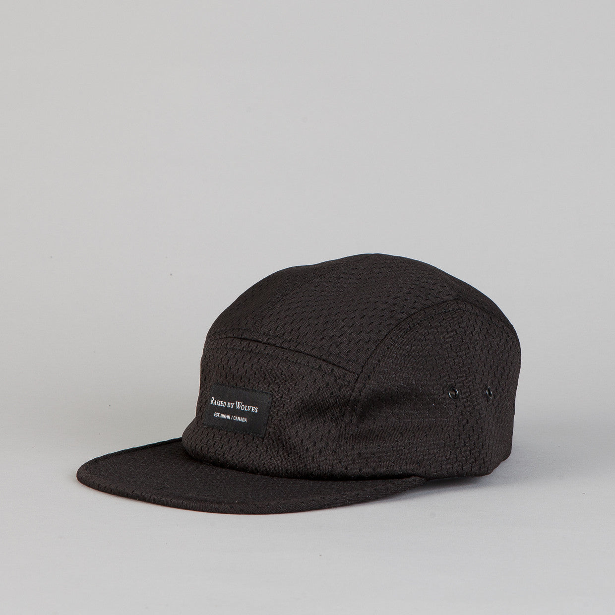 Raised By Wolves Algonquin 5 panel Cap Pro-Style Mesh Black