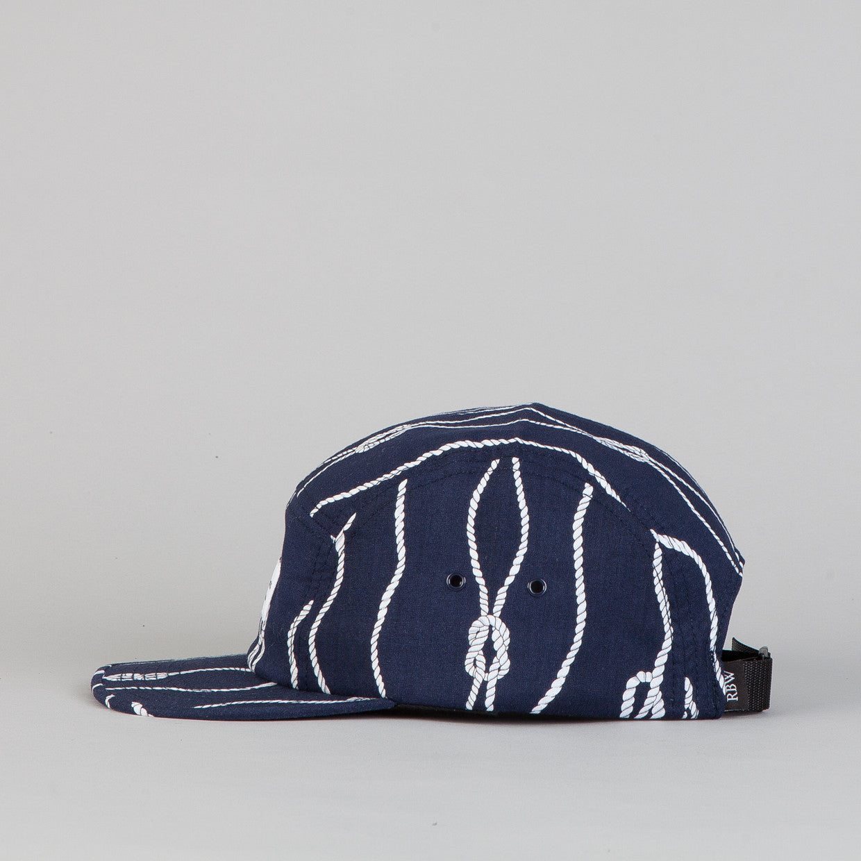 Raised By Wolves Algonquin 5 panel Cap Sailor's Knot Navy