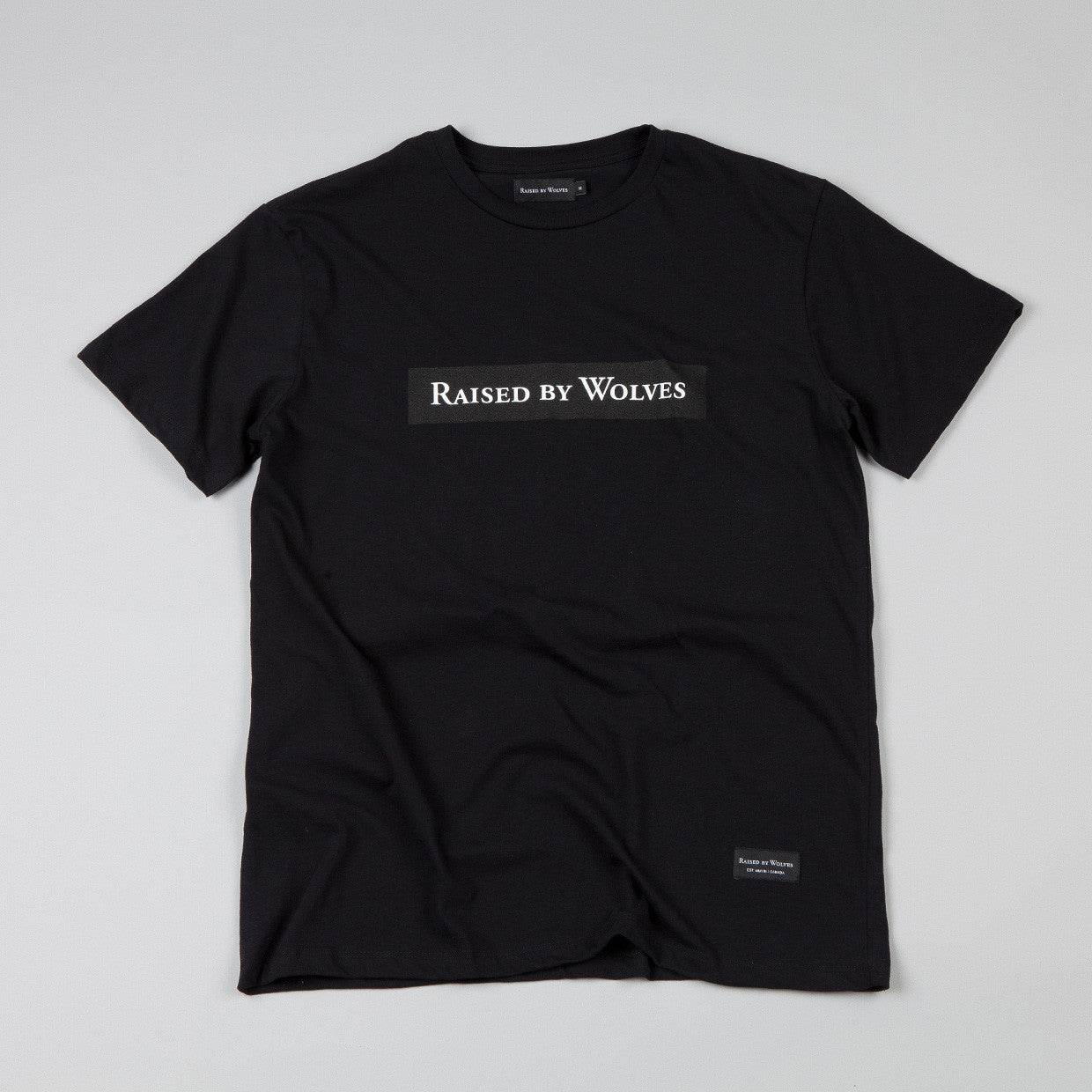 Raised By Wolves Box Logotype T-shirt Black