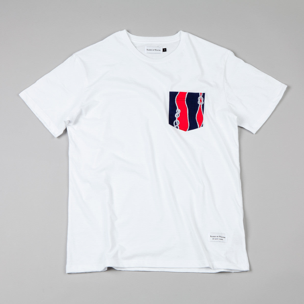 Raised By Wolves Sailor's Knot Pocket T-shirt White