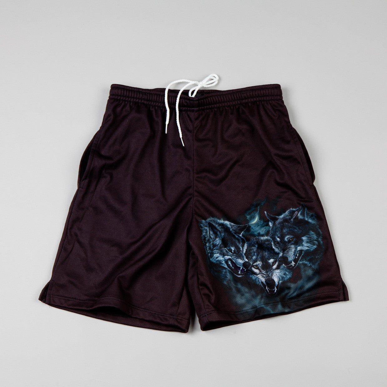 Raised By Wolves Wolfpack Shorts Black