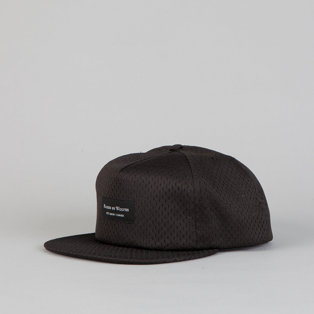 Raised By Wolves Richmond Snapback Cap Pro-Style Mesh Black