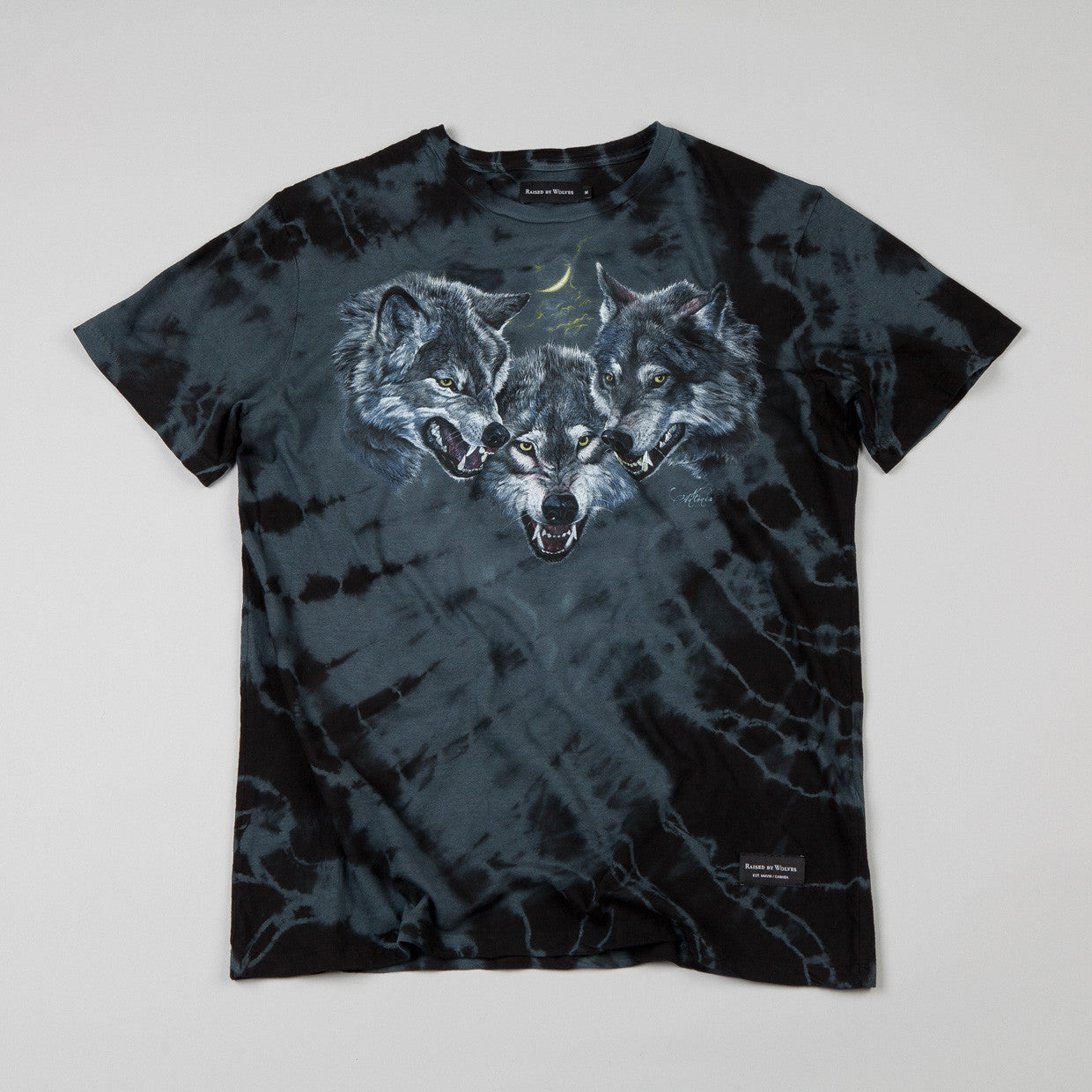 Raised By Wolves Wolfpack T-shirt Black