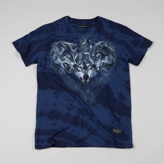 Raised By Wolves Wolfpack T-shirt Blue