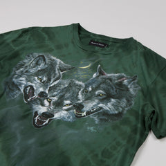 Raised By Wolves Wolfpack T-shirt Green