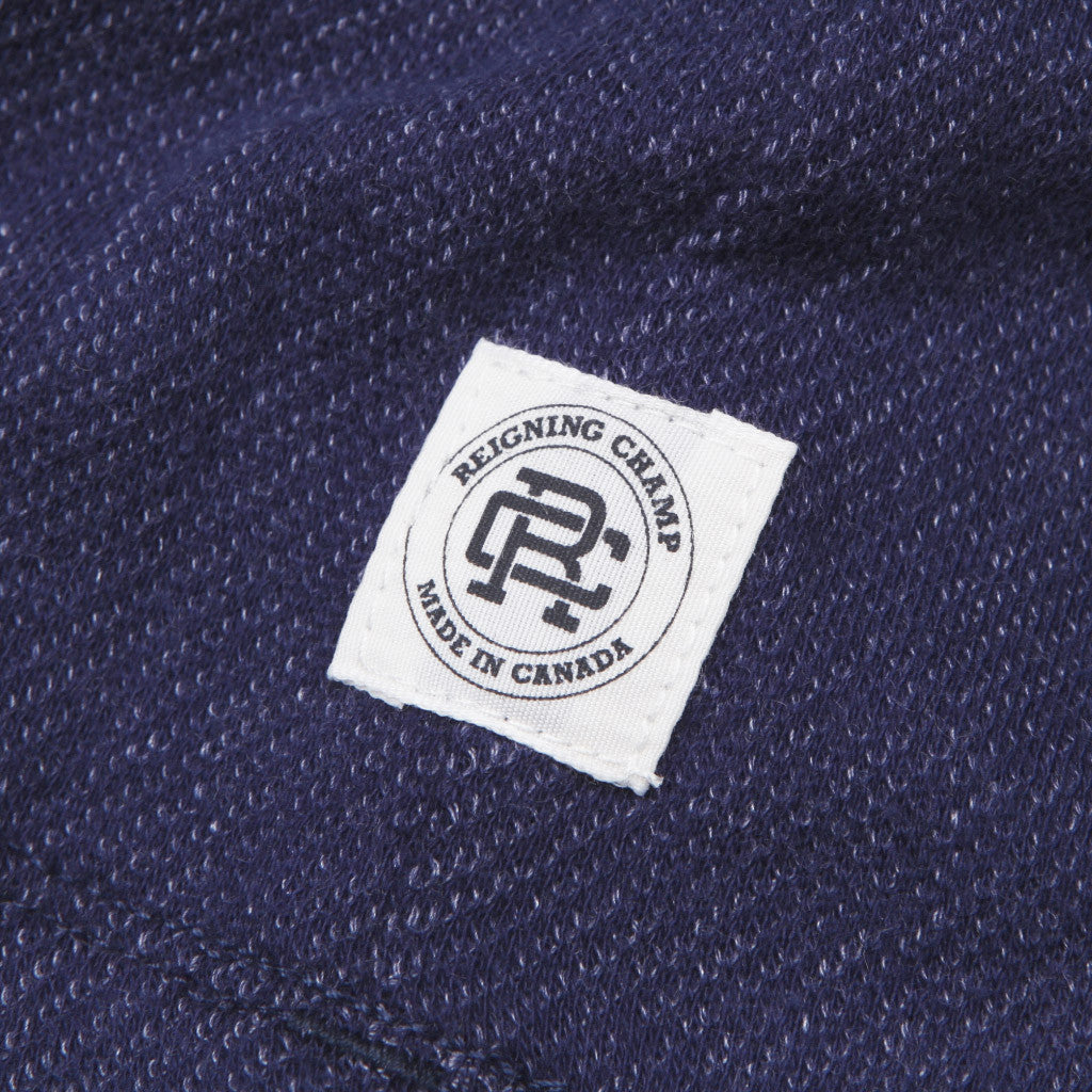 Reigning Champ Short Sleeve Henley Navy