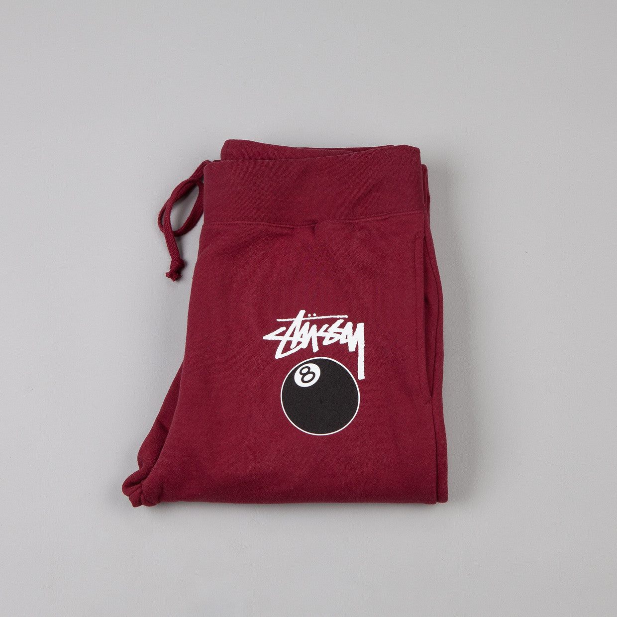 Stussy 8 Ball Sweatpants Dark Red
