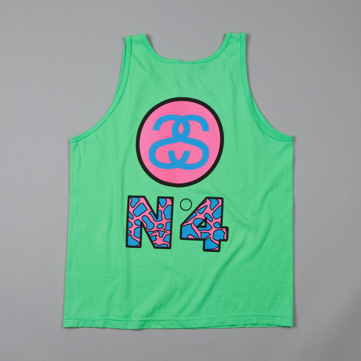 Stussy Designs Box Tank neon Green