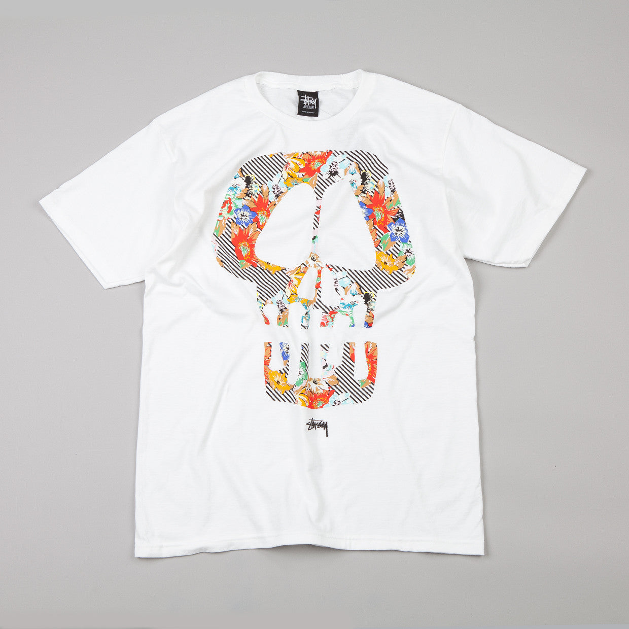 Stussy Skull Flowers T-shirt White