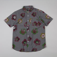 Stussy Cut Flower SS Shirt black